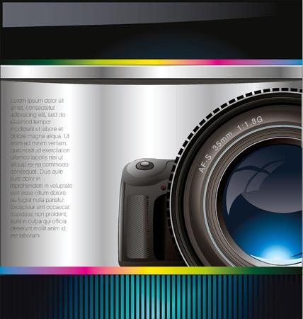 telephoto: Camera lens background