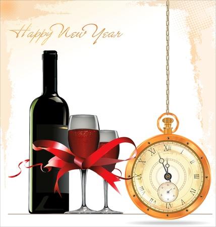 celebration champagne: Happy New Year background