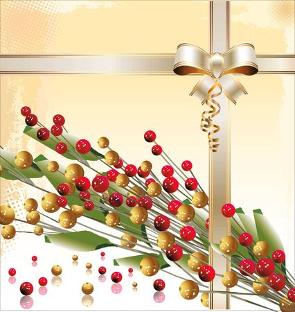 gold christmas background: Red and gold Christmas background
