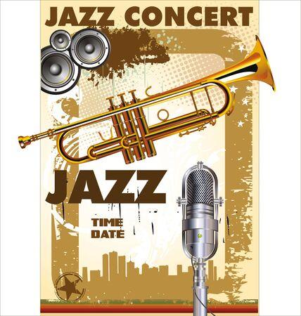 musica electronica: Concierto de jazz - Visión pública Vectores