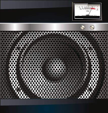 Loudspeaker grill background Vector