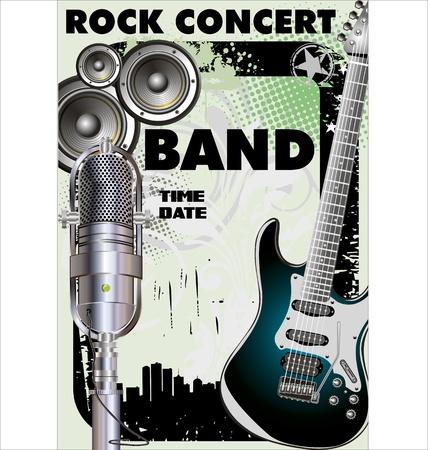rock concert: Concerto rock - Proiezione pubblica Vettoriali