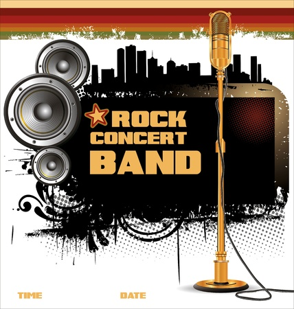 Rock music background - concert wallpaper Vector