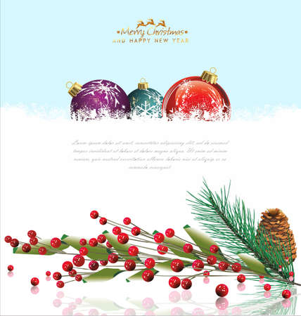 Christmas background with space for your text Vector