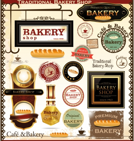 Retro Bakery Badges And Labels Stock Vector - 19137569