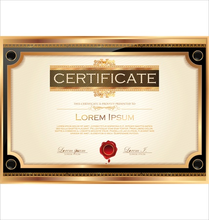 honour: Certificate template Illustration
