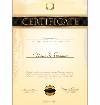 Certificate template Stock Vector - 19137571