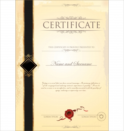 certificate design: Certificate template Illustration