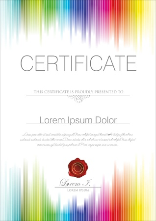 invitation background: Colorful Certificate template Illustration
