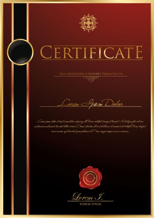 gold seal: Luxury certificate template