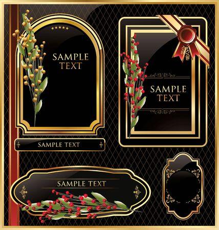 Elegant golden labels Stock Vector - 19137553