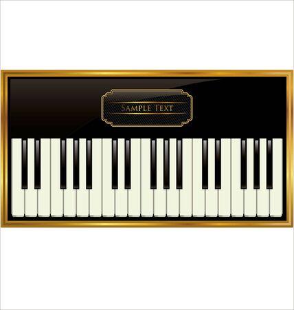 Elegant piano background Stock Vector - 19137544