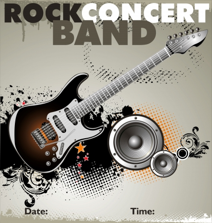 Rock concert background Vector