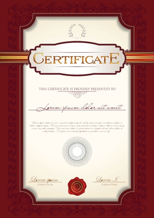 award certificate: Certificate template Illustration