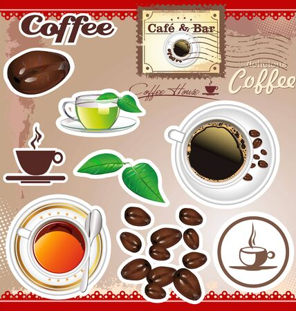 Coffee and tea design Stock Vector - 19160361