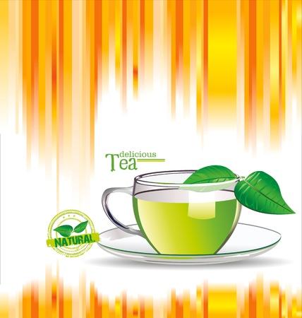 green tea leaf: Colorful Tea background