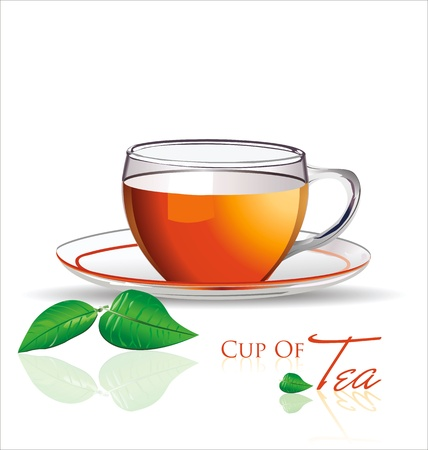 red cup: Cup of tea background vector illustration Illustration