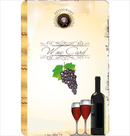 Wine card vector illustration Stock Vector - 19160328