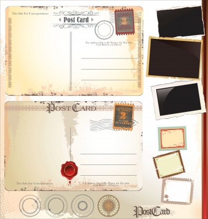 yellowing: Post card set Illustration