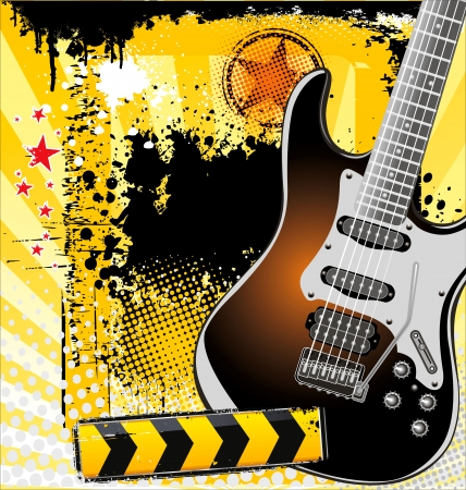 electric guitar: Rock music background
