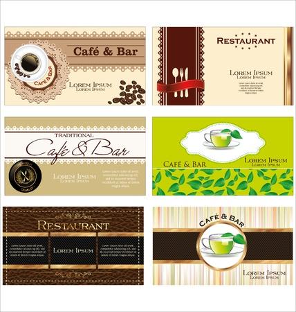 Business cards for cafe and restaurant Illustration