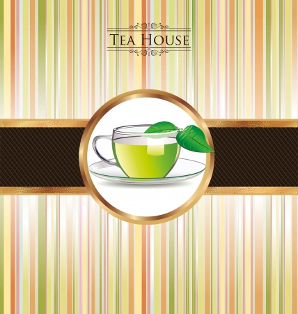 steam of a leaf: Colorful Tea background