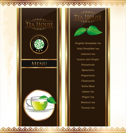 Tea bar menu template Vector
