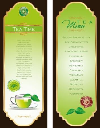 afternoon tea: Tea menu