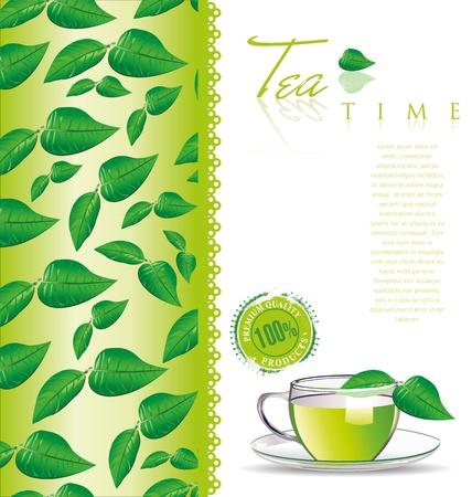 tea leaf: Tea menu