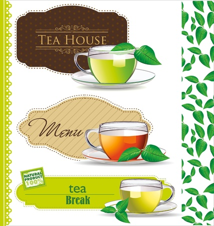 Retro Tea label vector illustration Vector