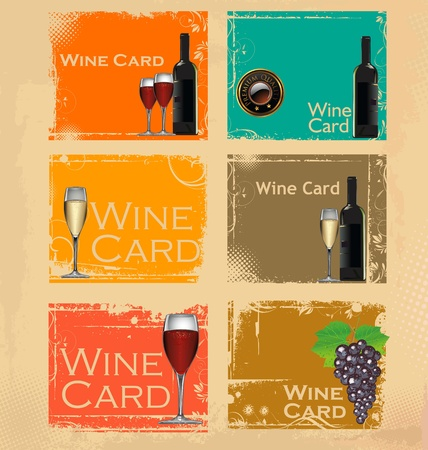 food and wine: Wine card set