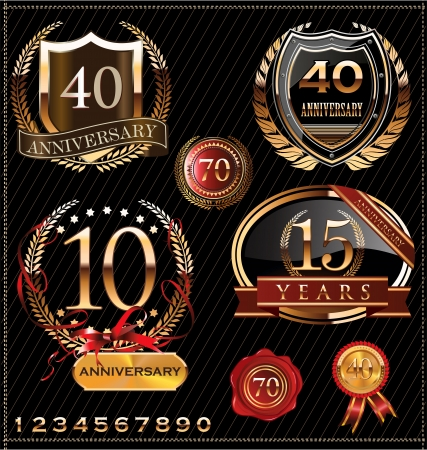 aniversario: Dise�o Aniversario Vectores