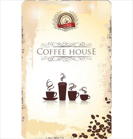 cafe bar: Cafe bar menu retro template