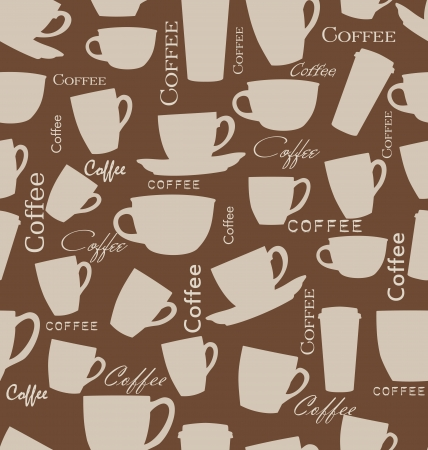 tileable: Seamless coffee background Illustration
