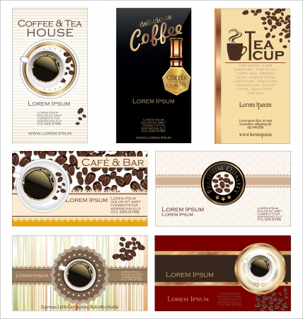 Business cards for cafe and restaurant Vector