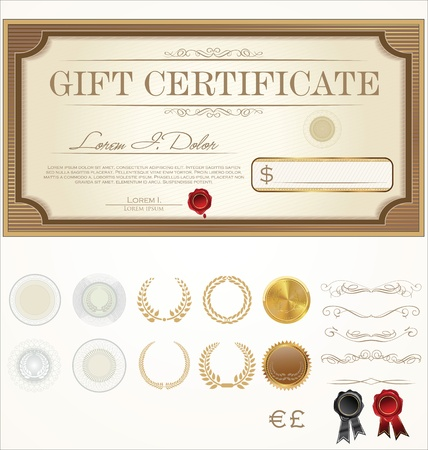 marriage certificate: Premium Certificate Template Illustration