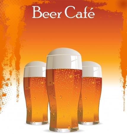 Beer cafe Vector