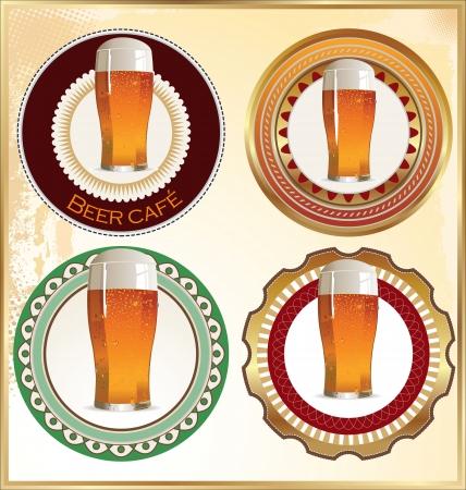 irish beer label: Beer vintage label design Illustration
