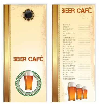 Vintage beer menu Vector