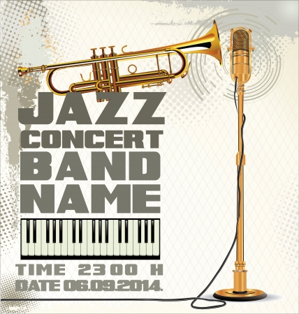 Billboard jazz concert Vector