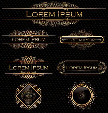 bordes decorativos: Elementos de diseño caligráfico Vectores