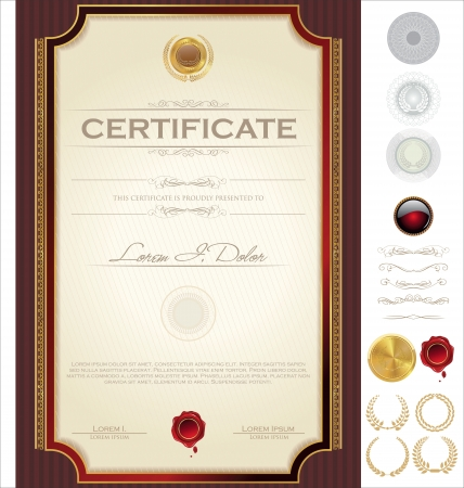 achieve: Certificate template Illustration