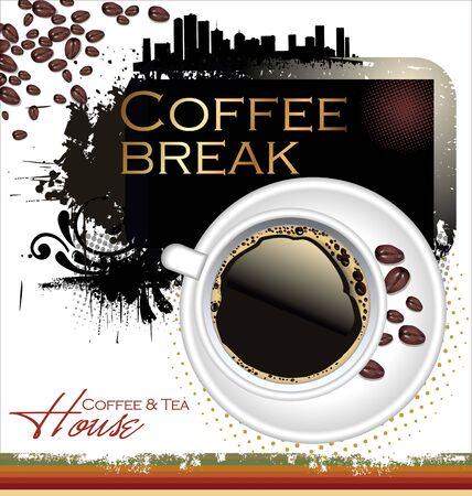 steaming coffee: Coffee and tea design