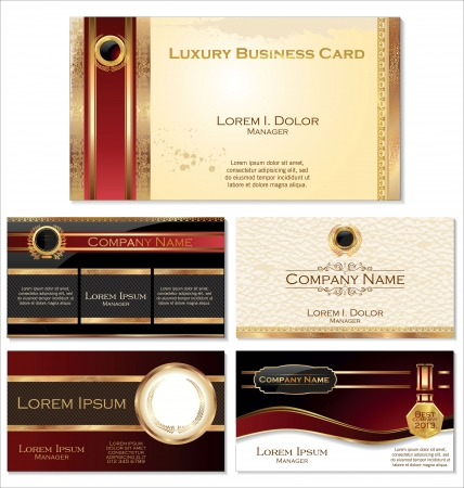 bright card: Luxury business card set Illustration
