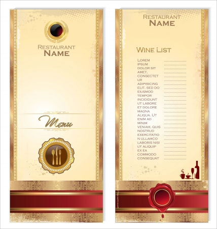 Luxury template for a restaurant menu or wine list Vector