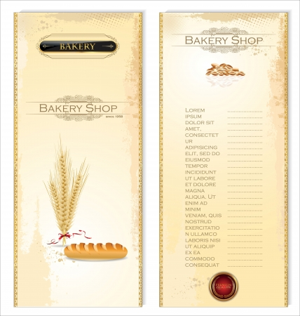 Menu for bakery Vector
