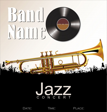 cityscape silhouette: Music background - jazz concert