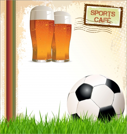 bar menu: Sports cafe background Illustration