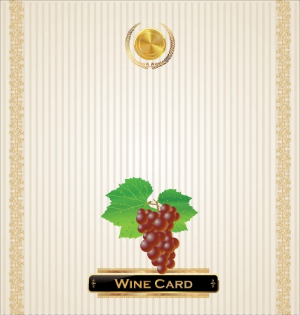 Wine card vector illustration Vector