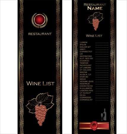Wine list elegant concept Vector